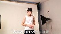Men's White Tank Vests, Behind the Scenes @Neevov Shoot