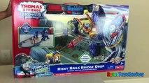 Томас и друзья поезда игрушки для детей TrackMaster рискованные рельсы мост падение Райан ToysReview