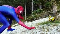 Человек-паук против зла Человек-Паук против человека-паука Супергерои замороженные Эльза Русалочка удовольствие в реальной жизни