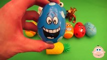 Kinder Surprise Egg Learn A Word! Spelling Play Doh Shapes! Lesson 4 Teaching Letters Opening Eggs