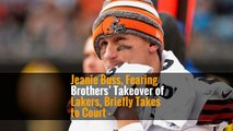 Jeanie Buss, Fearing Brothers' Takeover of Lakers, Briefly Takes to Court -
