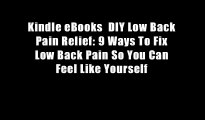 Kindle eBooks  DIY Low Back Pain Relief: 9 Ways To Fix Low Back Pain So You Can Feel Like Yourself