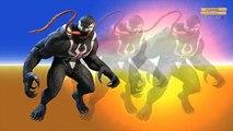 Finger Family Children Nursery Rhymes Blue Spiderman Vs Venom Cartoons For Children | Fing