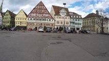 STREET VIEW: Esslingen at the river of Neckar in GERMANY
