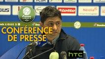 Conférence de presse FC Sochaux-Montbéliard - Havre AC (0-1) : Albert CARTIER (FCSM) - Oswald TANCHOT (HAC) - 2016/2017