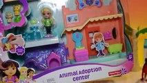 Dora y Amigos de Adopción de Animales Center en Español Play Doh Adopción de Animales de Juguete Episo
