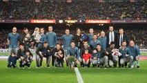 El Barça Lassa (hoquei patins) amb la Copa del Rei al Camp Nou