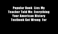 Popular Book  Lies My Teacher Told Me: Everything Your American History Textbook Got Wrong  For
