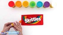 Плей-doh как сделать гигантские радуги Скитлс * пластилин-Арт * творческие для детей * RainbowLearning