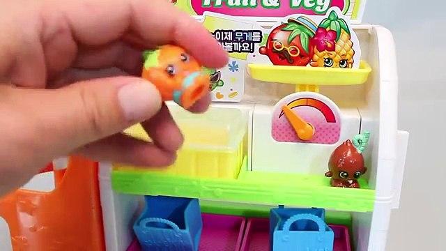 Shopkins Fruit Veg Market Shop Playset Toys 샾킨즈 후르츠샾 마트놀이 뽀로로 타요 폴리 장난감