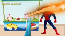 Masha and The Bear with Spiderman vs Frozen Elsa! makeup LOVE Candy kids Crying Lost Ice Cream