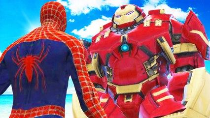 SPIDERMAN VS HULKBUSTER - EPIC SUPERHEROES BATTLE