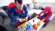 Hulk BREAKS Spiderman's Superman's PHONE! w_ Frozen Elsa Joker Gumball Machi