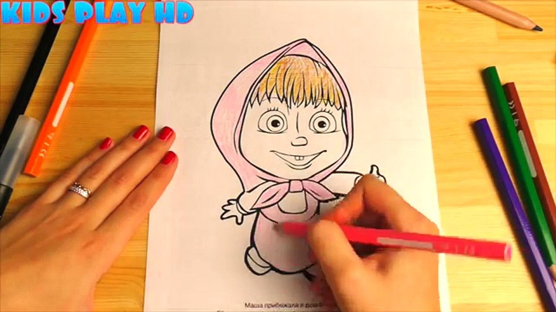 Dibujos de masha y el oso para colorear