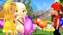 Bebé Niño de los Globos de Aprendizaje de los Números para Niños   Dinosaurio de Color Canciones para los Niños  