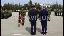 """Pamje gjatë ceremonisë së FSK-së për nderë të Epopesë së UÇK-së në kazermën """"Adem Jashari"""""""