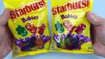 Aprender los Colores con Starburst Jaleas los Bebés Hacen un arco iris con Jalea Bebé