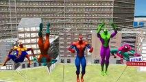 Carrera de coches de vídeo Hulk, Ironman Spiderman   Congelado Joker 123 canciones   Dedo de la familia Rimas para