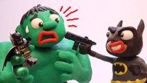 Hulk LEGO BATMAN Robber! Real Superhero Animation Movies (Play Doh Stop Motion)