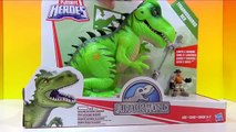 Disney Cars with Jurassic World Tyrannosaurus Rex and Tayo and Friends