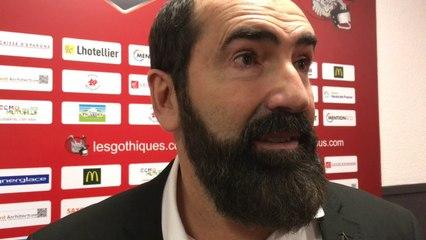HOCKEY SUR GLACE - Mario Richer (Amiens) après le match 4 perdu 2-1 contre Grenoble