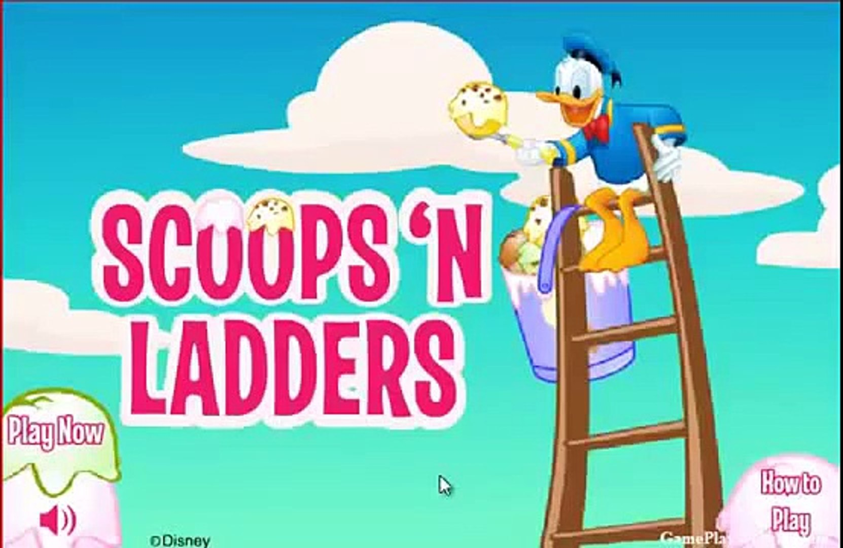 Disney Donald duck ice cream scoops gameplay A New disney video game! jeux video en ligne