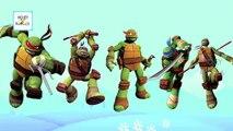 3D de dibujos animados de las Tortugas Ninja Dedo de la Familia de la Canción | canciones infantiles para los Niños | las Tortugas Ninja