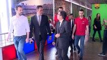 La sección de hockey patines hace entrega de la Copa del Rey en el Museo del FC Barcelona