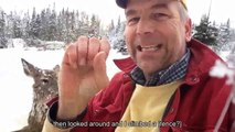 Cet homme sourd fait un acte incroyable, pour sauver une biche dans un lac glacé
