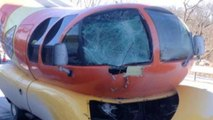 """The Oscar Mayer """"wienermobile"""" gets into an accident"""