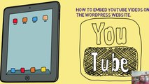 How to embed youtube videos on wordpress?