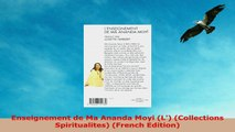 READ  Enseignement de Ma Ananda Moyi L Collections Spiritualites French Edition