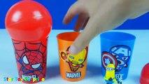 spider man ball cups surprise eggs minions kung fu panda 2 spongebob surprise eggs unboxing toy
