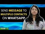 WhatsApp: Send Message to Multiple Contacts on WhatsApp - GIZBOT