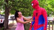 Замороженные Анна становится ребенок ж/ Человек-Паук, Эльза, Малефисента, Spiderbaby забавный супергерой видео