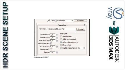 HDR Scene Setup using V-ray for 3ds max