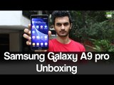 Samsung Galaxy A9 pro Unboxing - GIZBOT