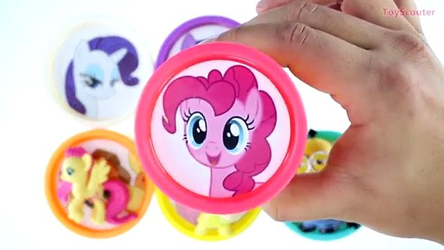 Learn Colors My Little Pony Play Doh Cans surprises Eggs Shopkins Zootopia toys Minions He