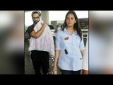 Shahid Kapoor and Mira Rajput spotted with baby Misha at the Airport |Filmibeat