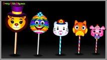 Finger Family Lollipop Lion, Cat, Pig, Owl Family Nursery Rhymes | Lollipop Finger Family
