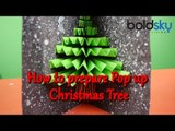 How to make DIY- Pop up card | Christmas Trees | Tutorial | Boldsky