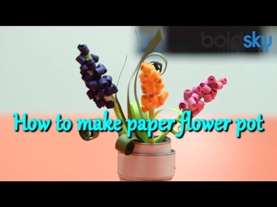 Amazing DIY Paper Flowers Craft | How to Make Paper Rose Flowers Pot | Easy  Paper Vase Crafts - YouTube | 720x960
