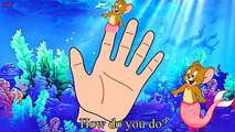 Tom and Jerry Mermaid Finger Family Song - Five Little Monkeys Jumping On The Bed Nursery Rhymes
