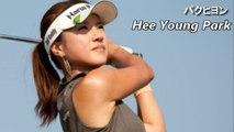 【パクヒヨン】珍しい真上からのHee Young Parkスイング解析 golf swing analysis