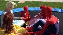 Замороженные elsa и Человека-Паука похитили!! Детские Человек-Паук спасает день! Джокер против человека-паука