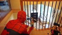 Frozen Elsa Accident Parachute Fall,Break Leg,Doctor Mcstuffins Check up Syringe Injection Spiderman