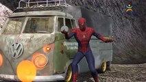 Spiderman Vs Loco Gorila Lucha Compilación de Dedo de la Familia Rimas de cuarto de niños | 3D Animat