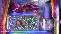 Disney Princess Sofia the First Lip Gloss Amulette! Lip GLoss Charm Bracelet Nail Polish!