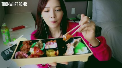 English Sub ASMR - Japanese Lunch box Eating ASMR (Binaural Whispering) 한국어 Eating ASMR 톰왔 혼자 도시락 먹어봤어요!