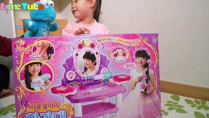 Tangled Mimi makeup dressing table cosmetic Pororo camera 라임의 라푼젤 미미 화장대 어린이 화장품 LimeTube & Toy 라임튜브